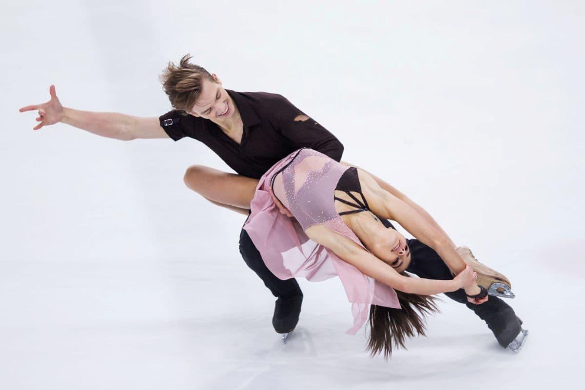 Eiskunstlauf Junioren WM 2019 6.-10. März 2019 in Zagreb - hier das Eistanz-Paar Sofia Shevchenko - Igor Eremenko