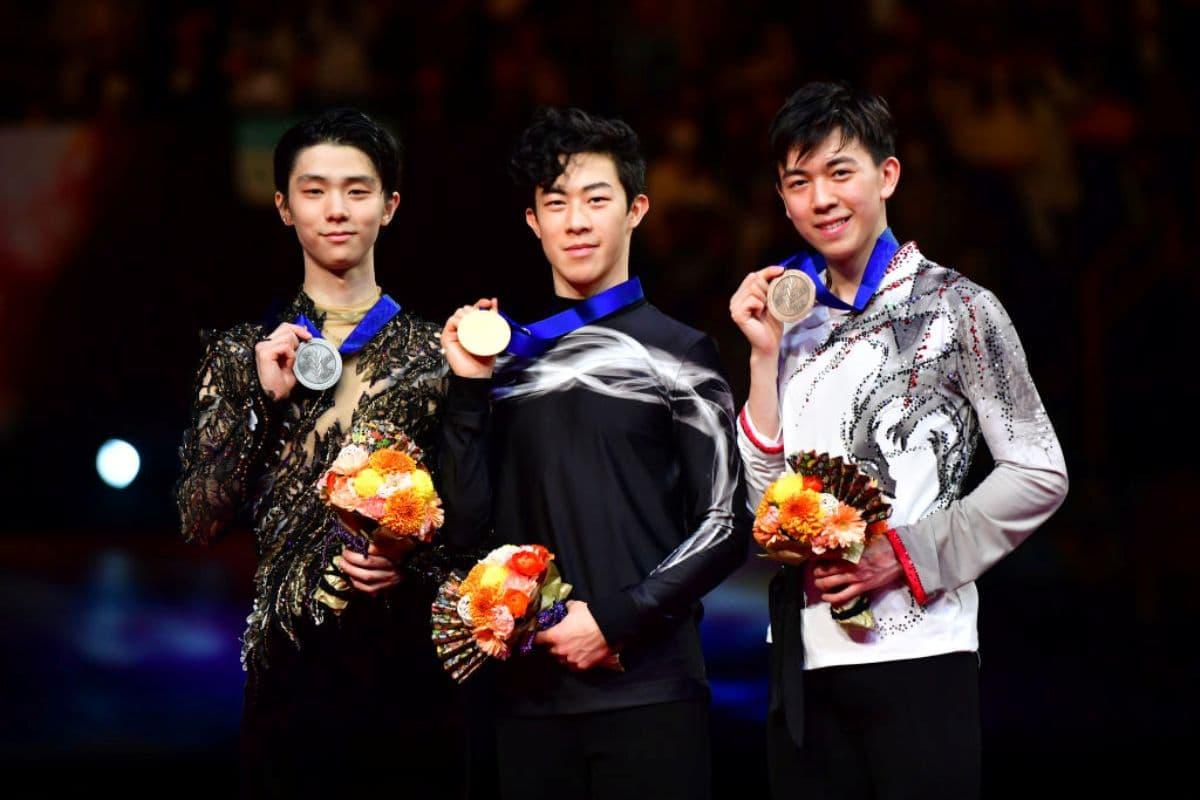 Eiskunstlauf-WM 2019 Siegerehrung Herren