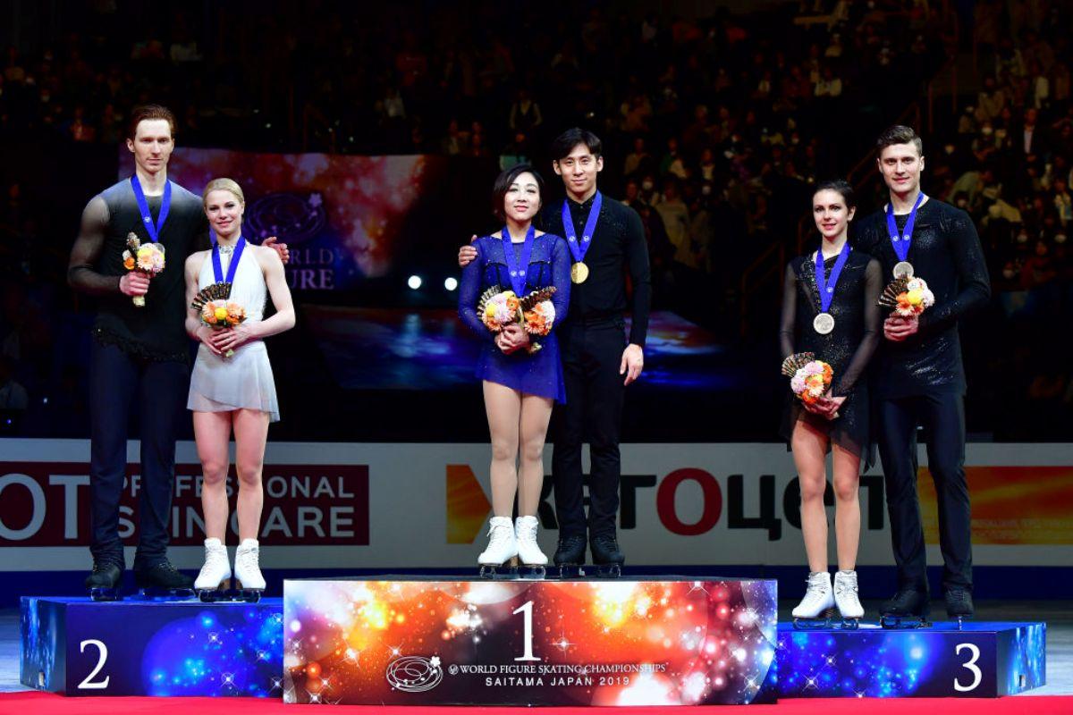 Eiskunstlauf-WM 2019 - Siegerehrung Paare