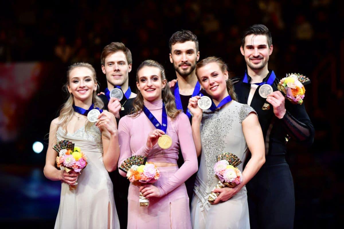 Eiskunstlauf-WM 2019 Siegerehrung im Eistanz