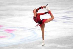 Evgenia Medvedeva 2019 zur WM Eiskunstlauf 2019