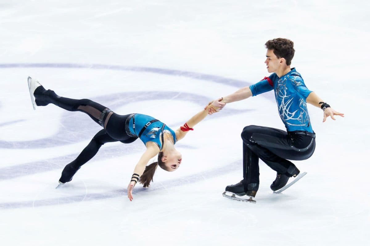 Polina Kostiukovich - Dmitrii Ialin - Junioren-Eiskunstlauf-WM 2019