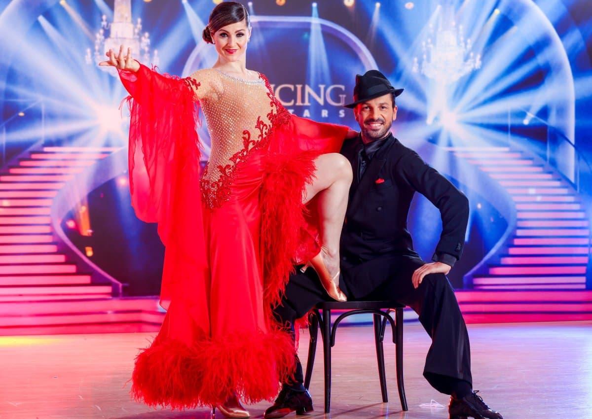 Dancing Stars am 12.4.2019 Meinung Friedenspfeife statt Kriegs-Tanz - hier im Bild Lizz Görgl – Thomas Kraml als bestes Tanzpaar des Abends