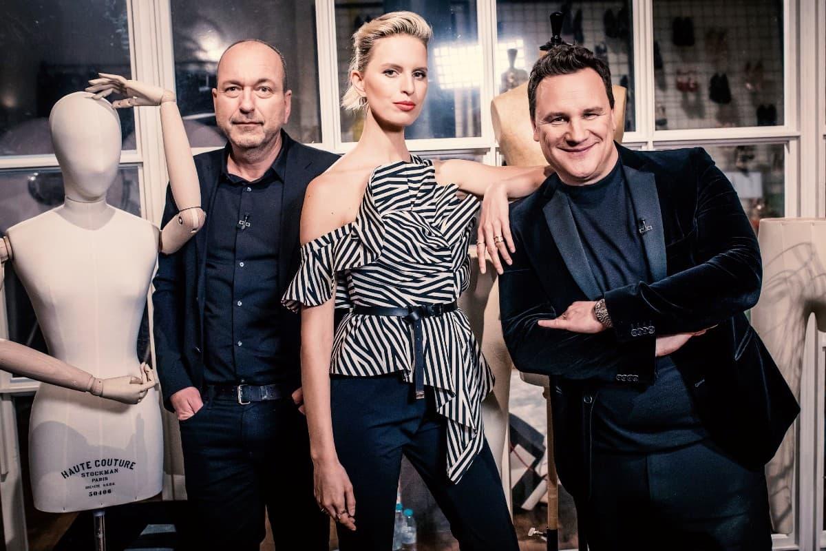 Donald Schneider, Karolina Kurkova und Guido Maria Kretschmer - Experten-Jury Guidos Masterclass am 29.4.2019