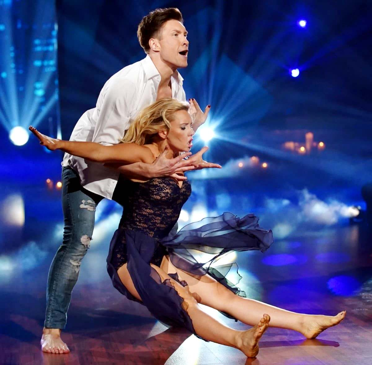 Evgeny Vinokurov - Evelyn Burdecki bei Let's dance 2019 am 5.4.2019