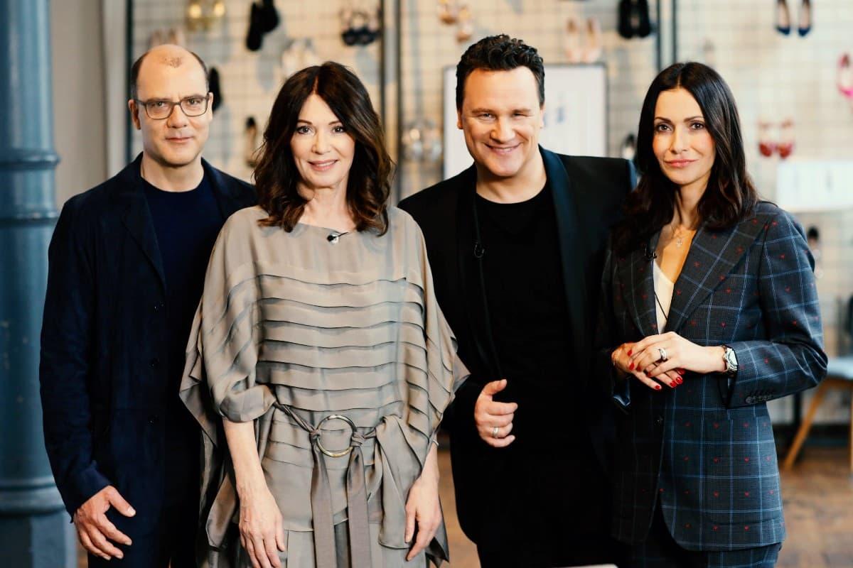 Experten Finale Guidos Masterclass am 3.6.2019 - im Bild Joachim Schirrmacher, Iris Berben, Guido Maria Kretschmer und Anita Tillmann