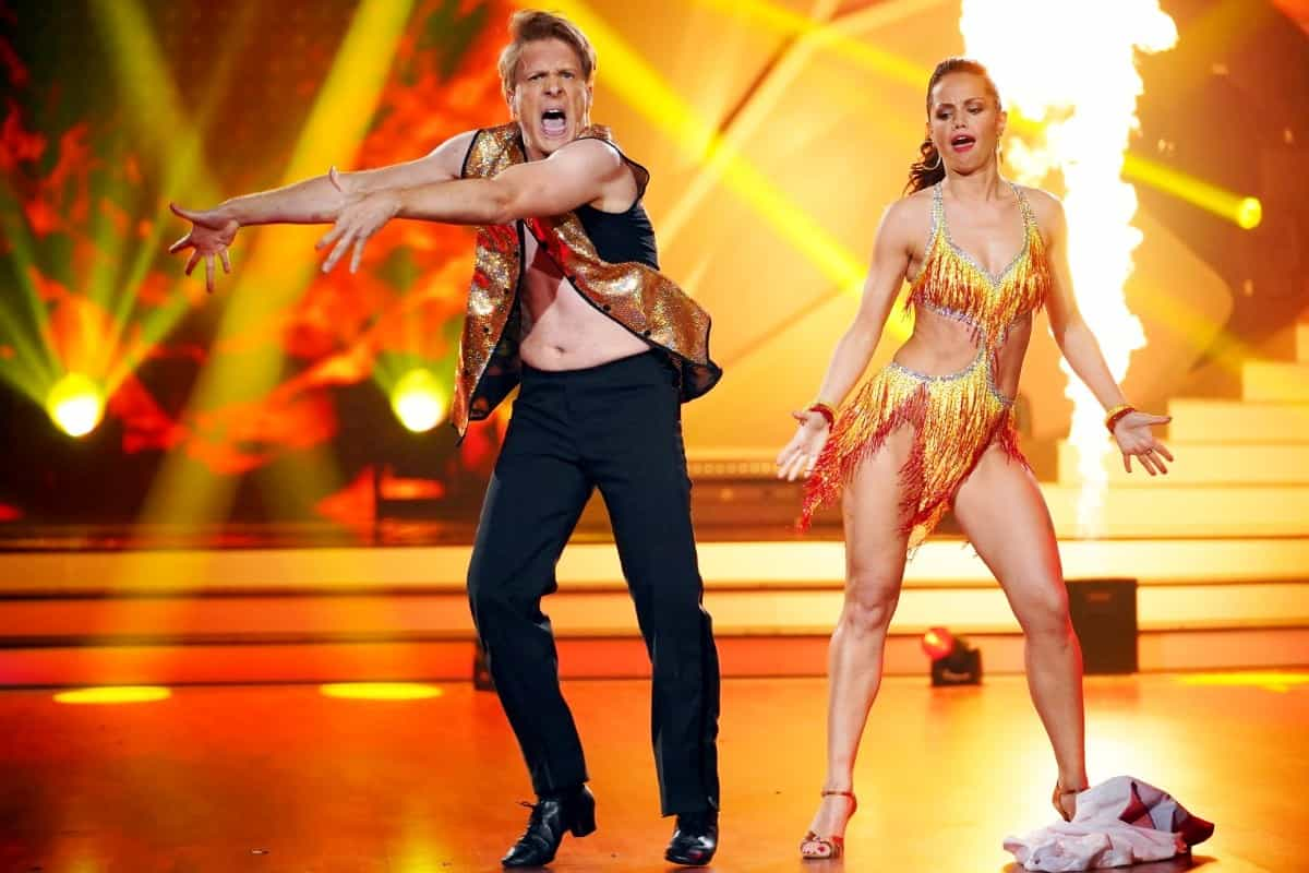 Oliver Pocher - Christina Luft beim Cha Cha Cha bei Let's dance am 5.3.2019