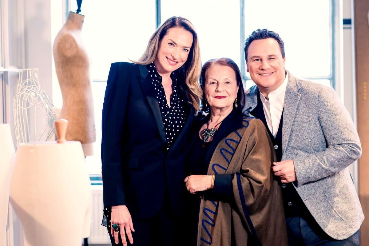 Tatjana Patitz, Dominique Deroche und Guido Maria Kretschmer am 13.5.2019