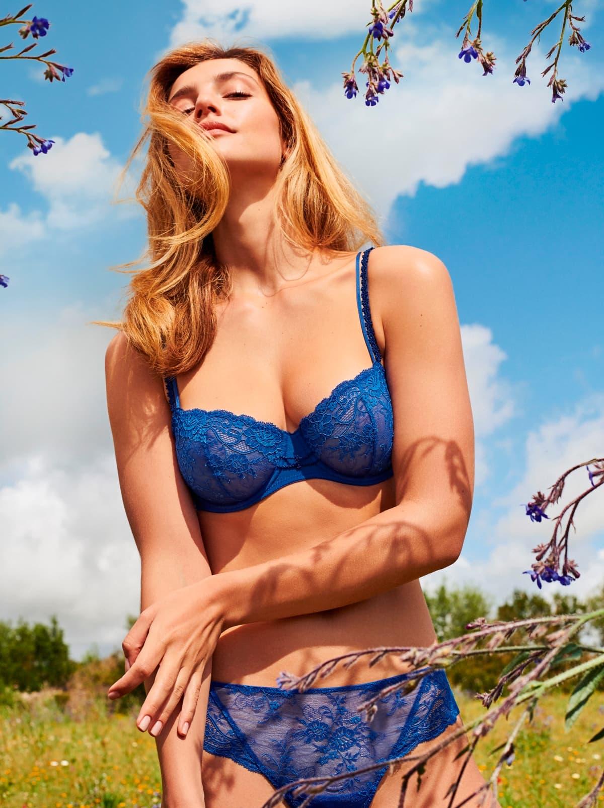BH und Slip Marie Jo Madelon, Farbe Blue Print, Sommermode 2019