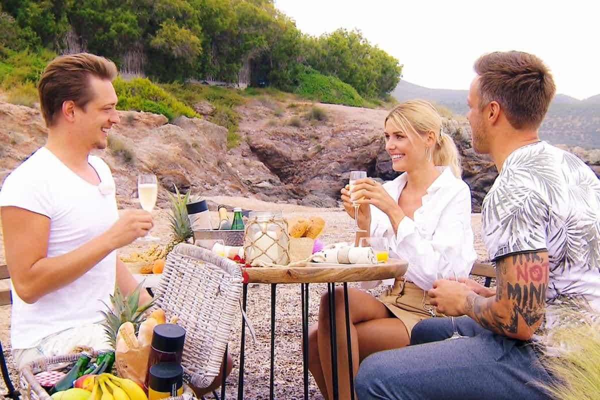 Bachelorette am 24.7.2019 - Fabio, Gerda und Daniel