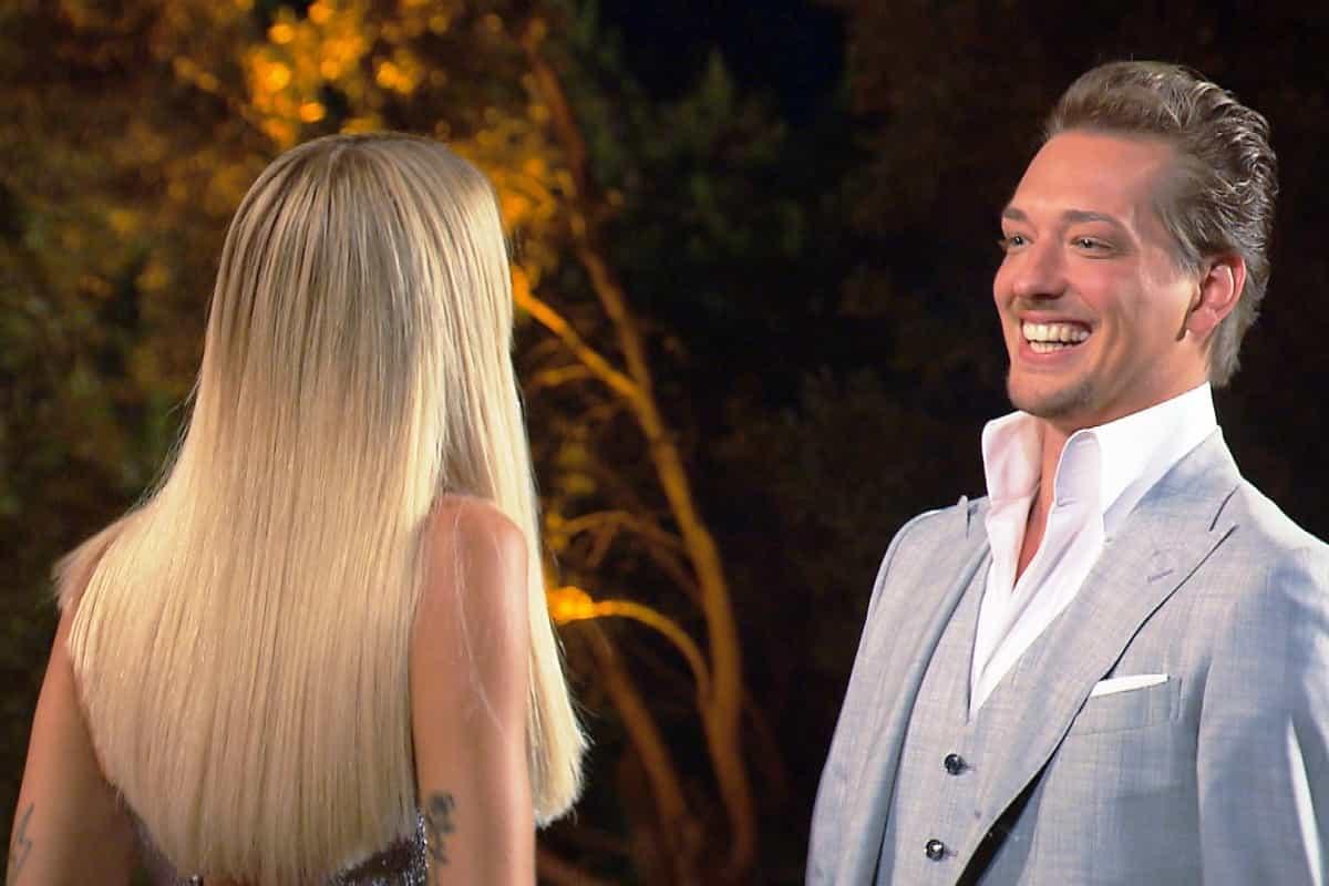 Gerda und Fabio beim Vorstellen bei der Bachelorette am 17.7.2019
