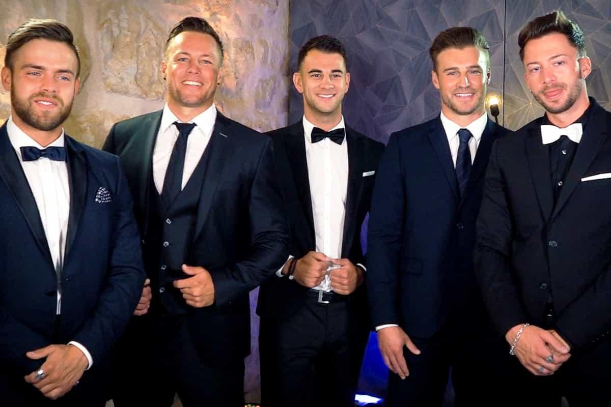 Bachelorette am 14.8.2019 - Andeas, Daniel, Serkan, Alex und Keno