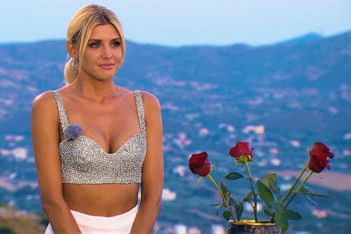 Gerda in der ersten Nacht der Rosen bei der Bachelorette am 21.8.2019