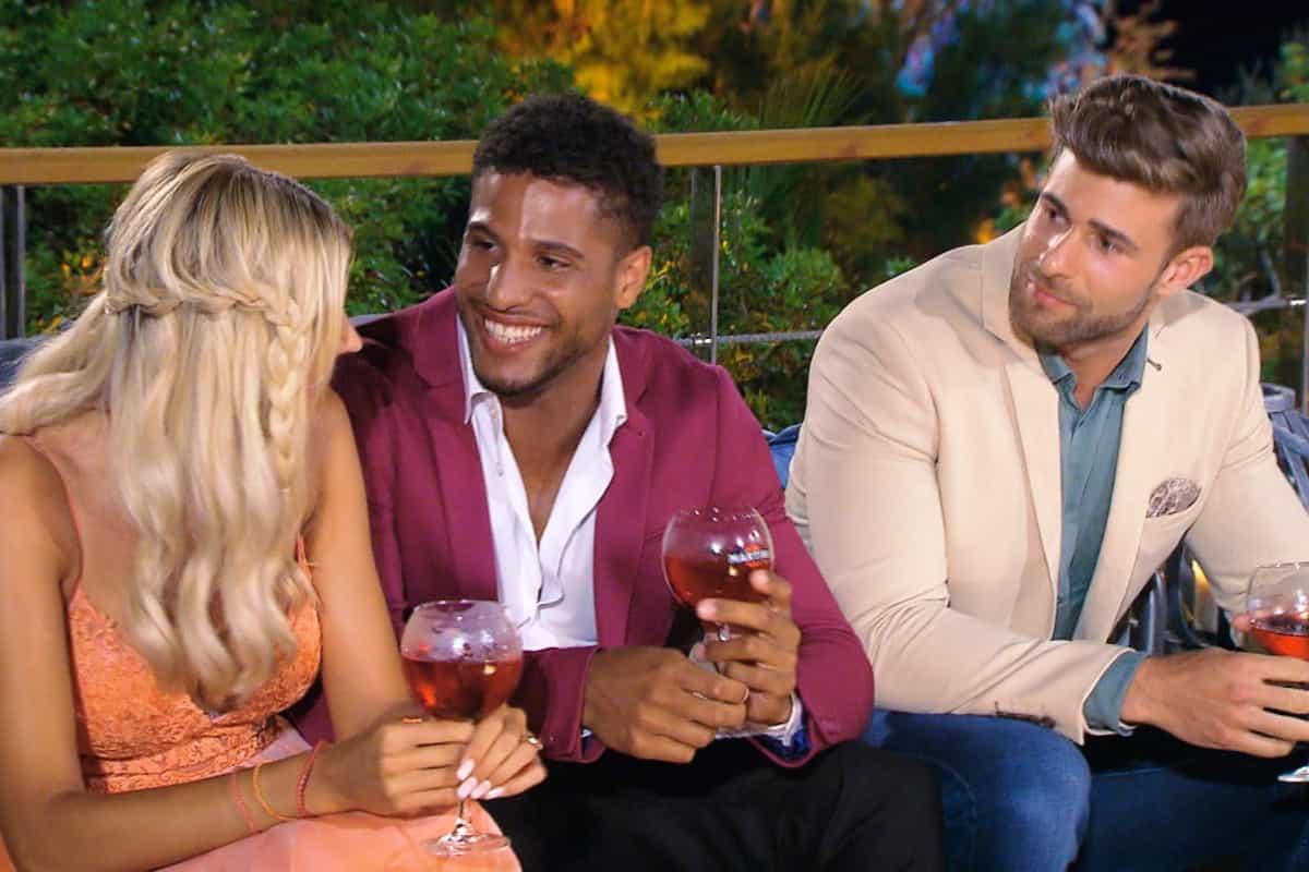 Gerda mit David und Marco - Bachelorette am 7.8.2019