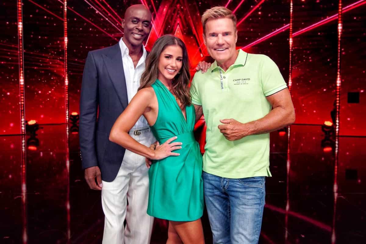 Supertalent 2019 beginnt am 14. September 2019 - hier Bruce Darnell, Sarah Lombardi und Dieter Bohlen in der Jury Supertalent 2019