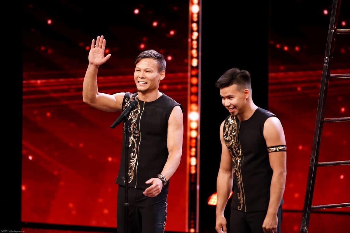 Batyr Zhanuzak und Marlen Maratov beim Supertalent am 21.9.2019