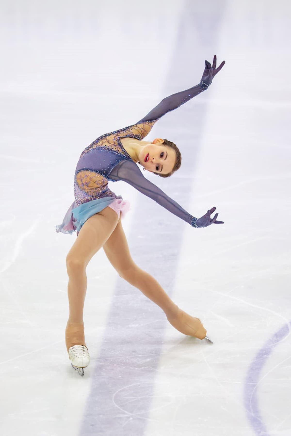 Daria Usacheva aus Russland beim Junior Grand Prix 2019 in Lettland