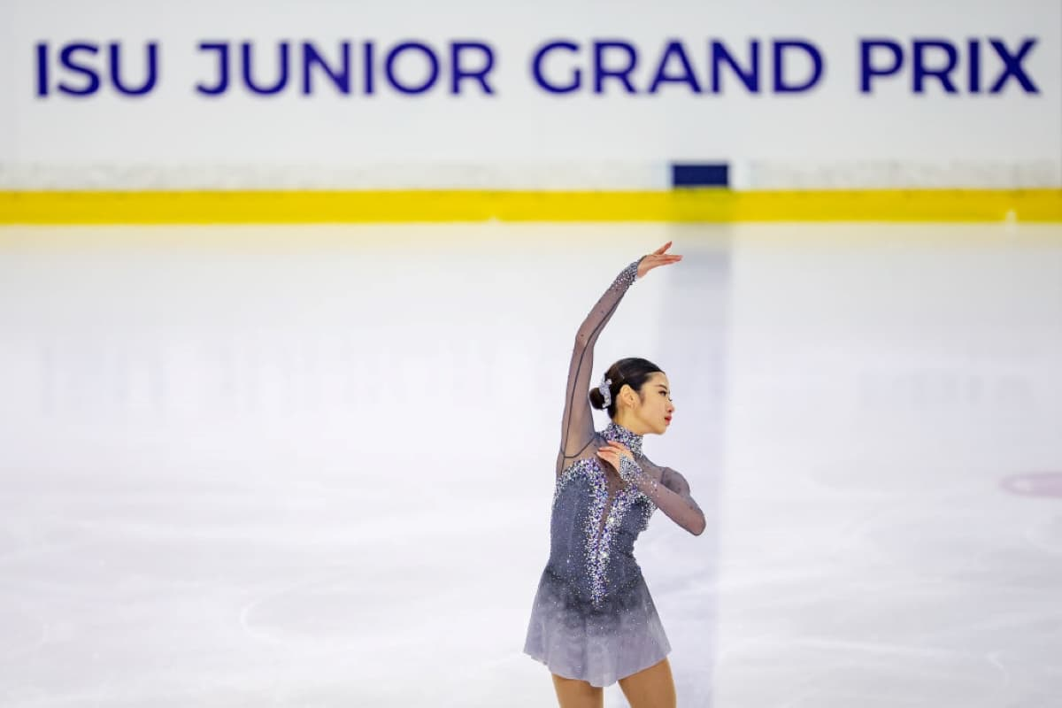 Haein Lee aus Südkorea beim Junior Grand Prix 2019 in Lettland