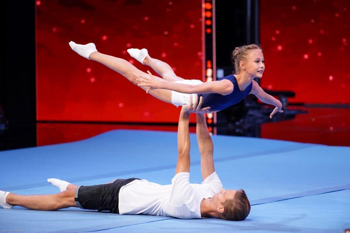 Helene Künzel und Jonas Neumüller beim Supertalent am 21.9.2019