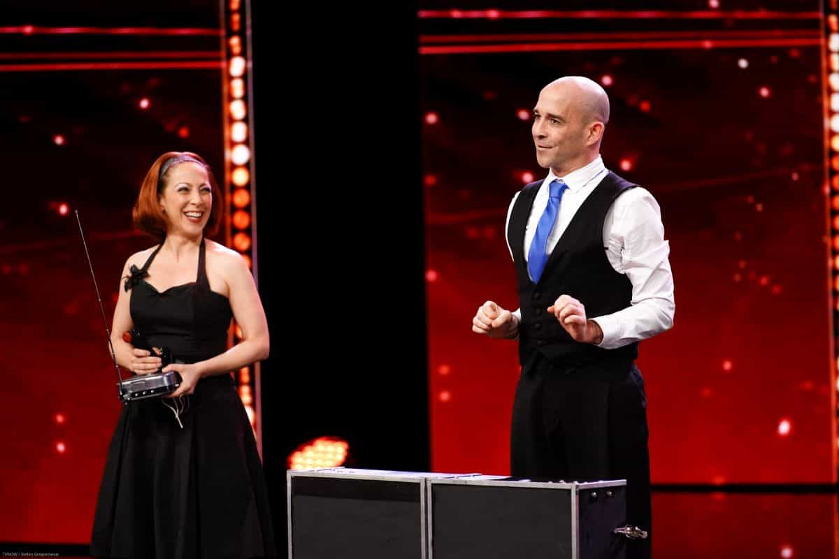 Jason McPherson und Shelly Mia Kastner beim Supertalent am 14.9.2019