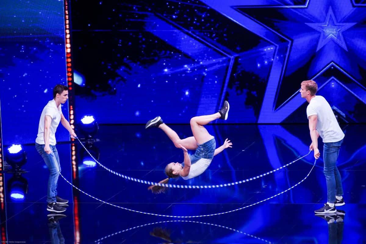 Kasper De Bruyn, Shana De Jaegher und Jens Ockermann beim Supertalent am 21.9.2019
