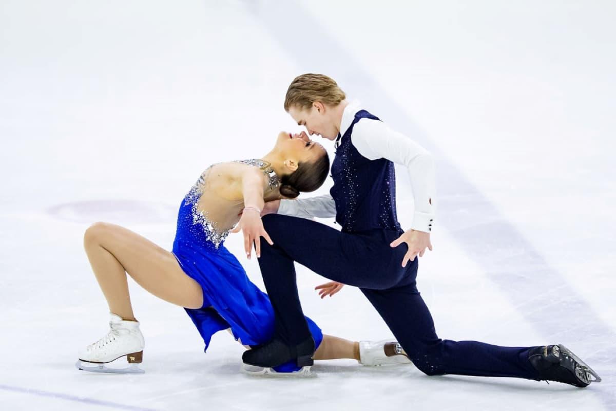 Natalie D'Alessandro - Bruce Waddell aus Kanada beim Junior Grand Prix 2019 in Lettland
