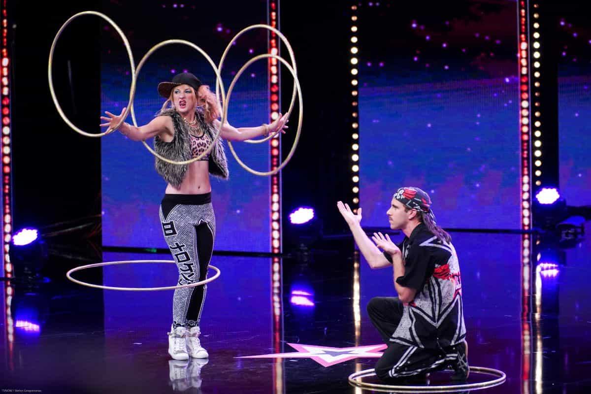 Shantalle Taylor mit Jerry Tremblay beim Supertalent am 28.9.2019