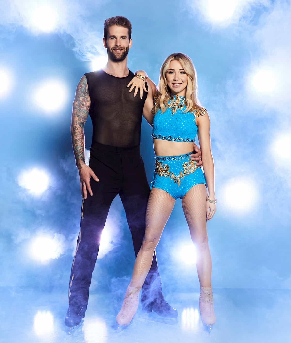 Andre Hamann - Stina Martini bei Dancing on Ice 2019 Herbst zweite Staffel