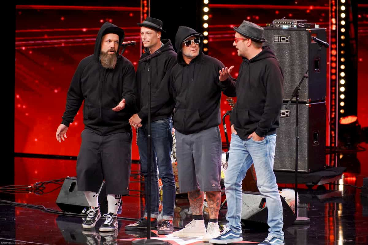 Band Rebell Tell beim Supertalent am 5.10.2019
