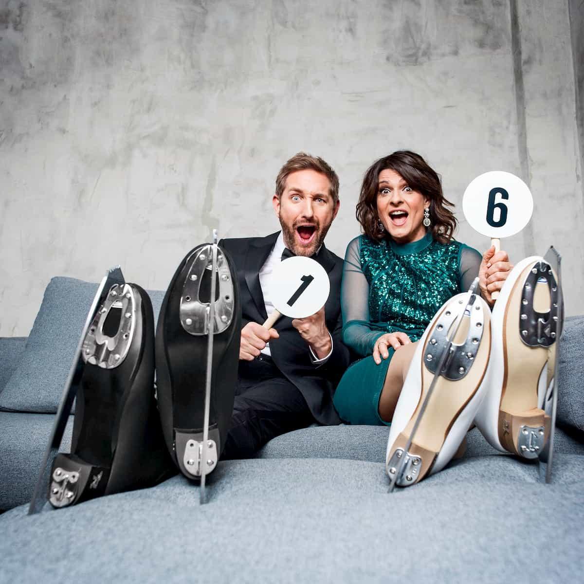 Daniel Boschmann und Marlene Lufen Moderatoren bei Dancing on Ice