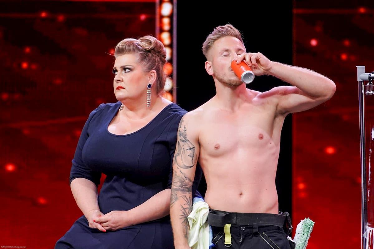Denis Ledea mit Sandra Nägele beim Supertalent am 19.10.2019