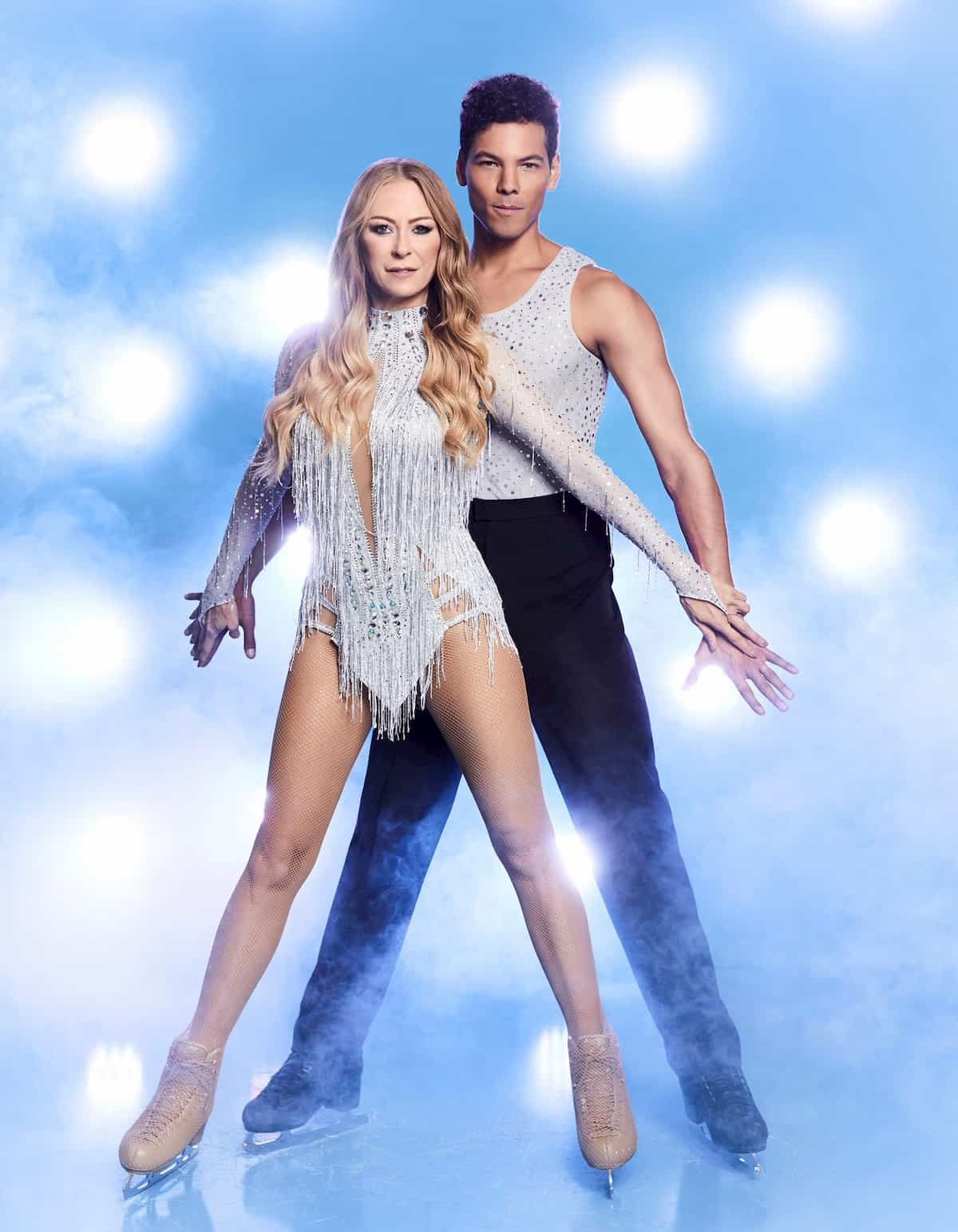 Jenny Elvers - Jamal Othman bei Dancing on Ice 2019 Herbst zweite Staffel