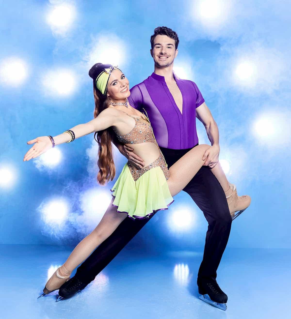 Klaudia mit K - Sevan Lerche bei Dancing on Ice 2019 Herbst zweite Staffel