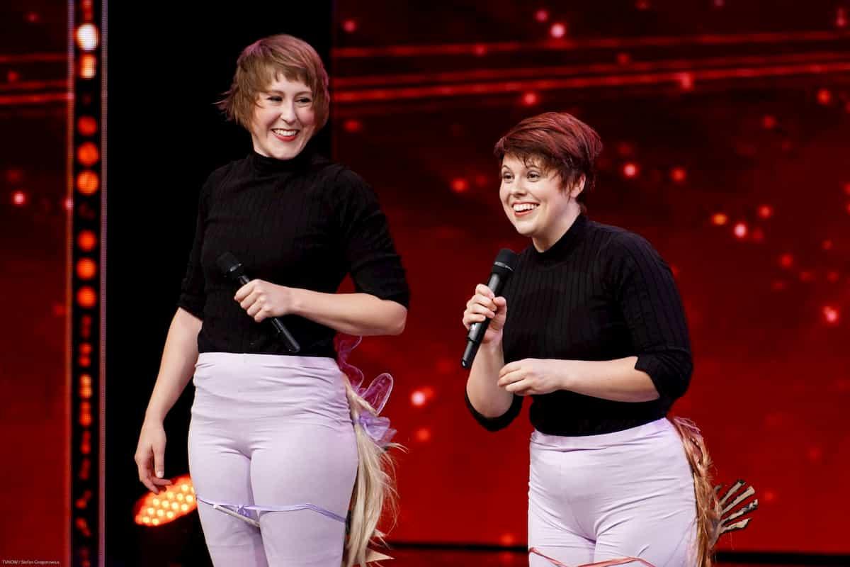 Laura Loy und Anna Sell beim Supertalent am 19.10.2019