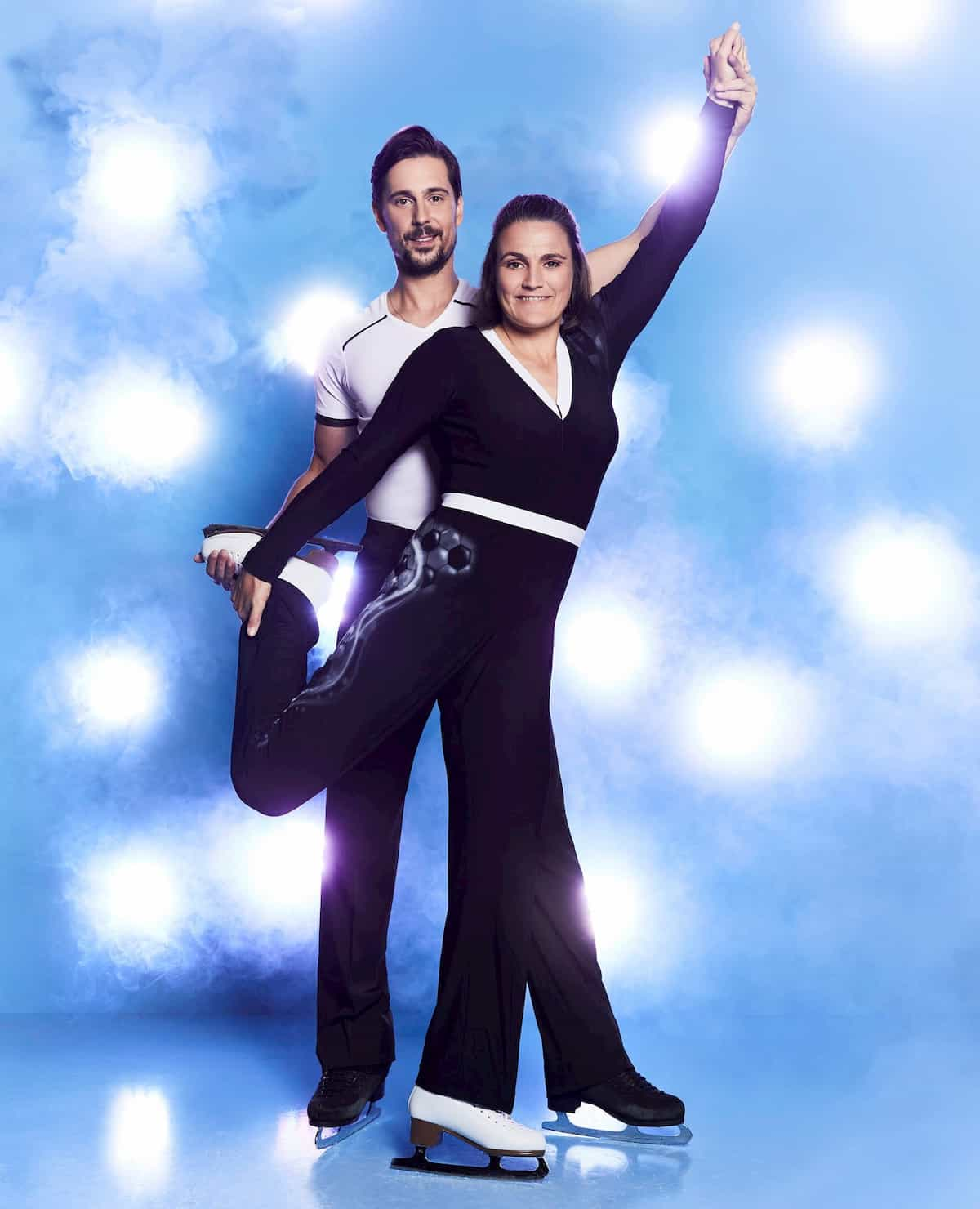 Nadine Angerer - David Vincour bei Dancing on Ice 2019 Herbst zweite Staffel