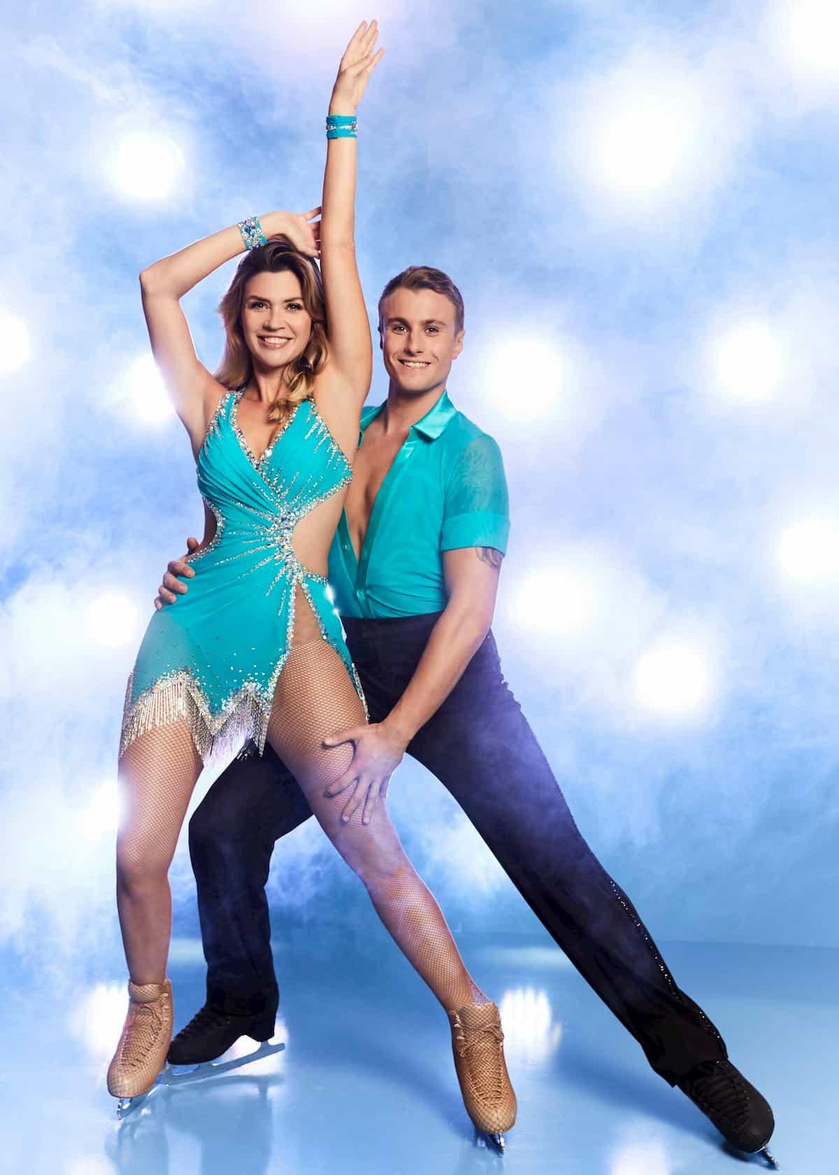 Nadine Klein - Niko Ulanovsky bei Dancing on Ice 2019 Herbst zweite Staffel