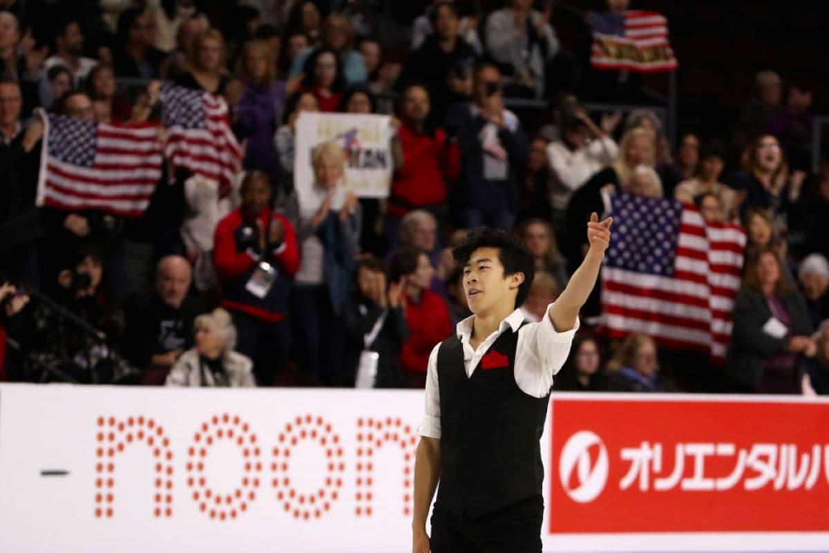 Nathan Chen beim Eiskunstlauf Grand Prix Skate America 2019