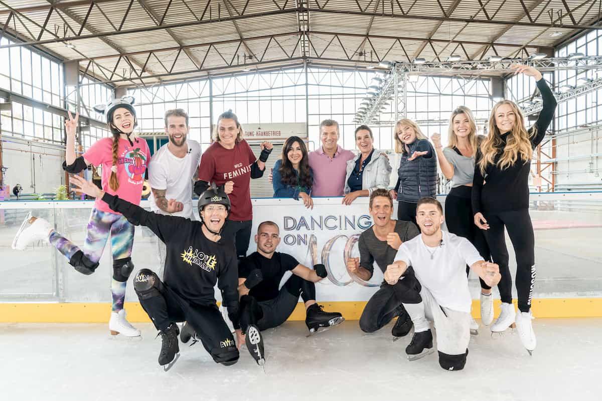 Alle Dancing On Ice - Promis 2019 beim Training