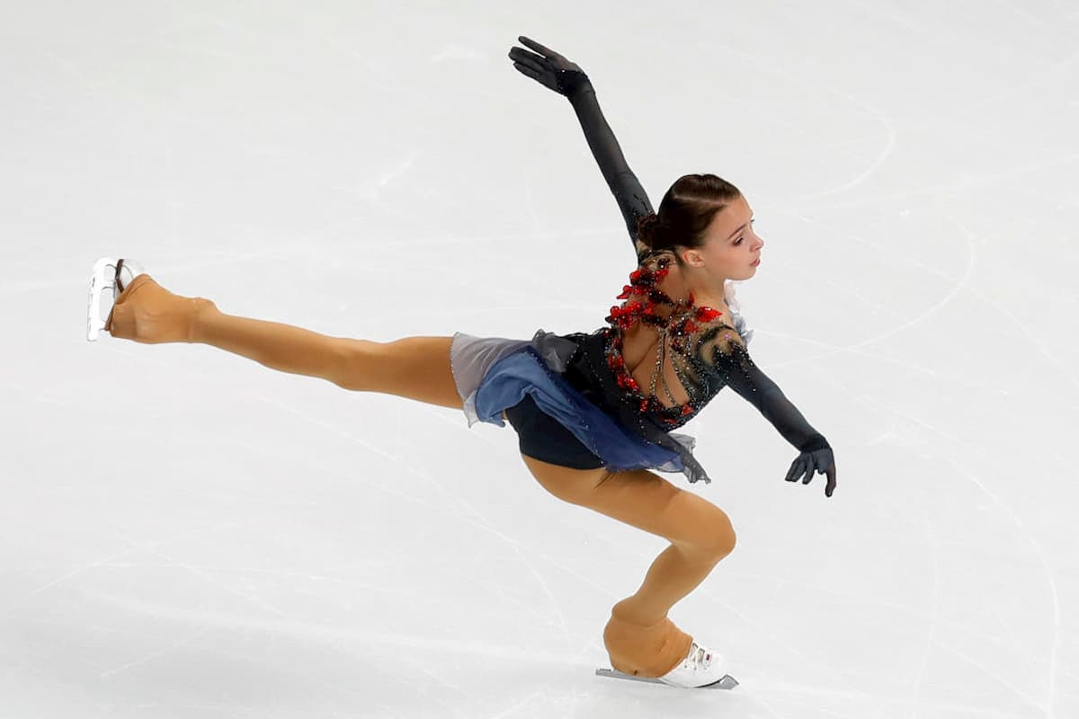 Anna Shcherbakova - Gewinnerin des Eiskunstlauf Grand Prix Cup of China 2019