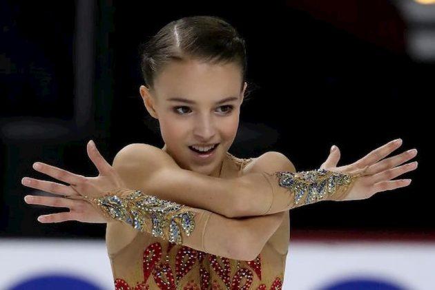 Anna Shcherbakova beim Eiskunstlauf Grand Prix 2019