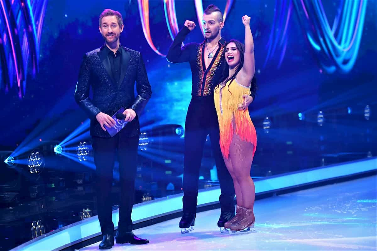 Dancing on Ice am 29.11.2019 - Amani Fancy, Eric Stehfest und Moderator Daniel Boschmann