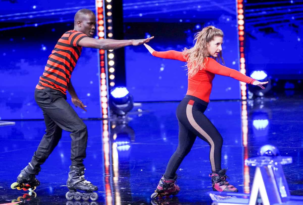 Duo Diam - Zaira Tari Garcia und Ibou Ibrahima beim Supertalent am 23.11.2019