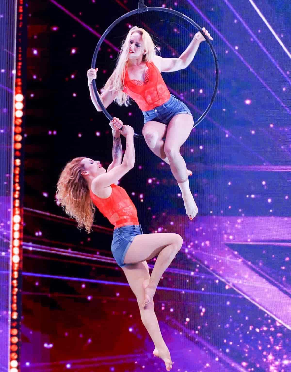 Helene Kolessnikow - Anne Charlotte Joguet beim Supertalent am 23.11.2019