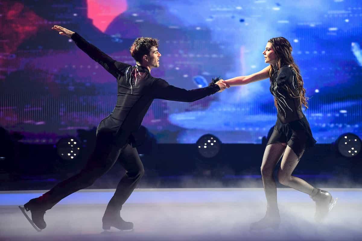 Klaudia mit K - Sevan Lerche bei Dancing on Ice am 22.11.2019