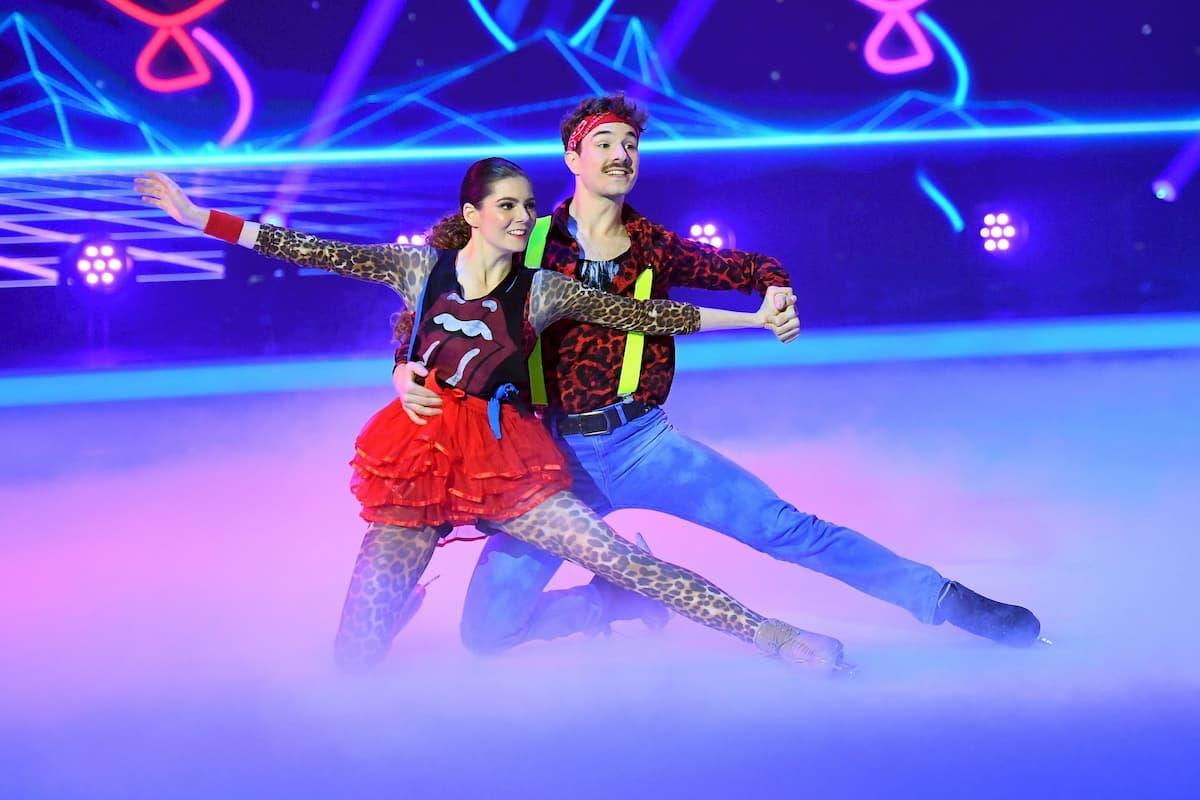 Klaudia mit K - Sevan Lerche bei Dancing on Ice am 29.11.2019