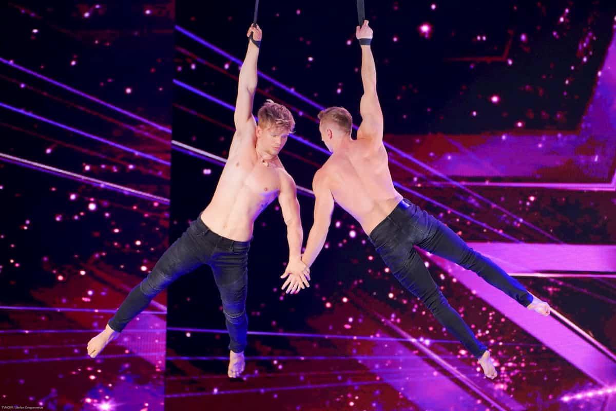 Lukas Flint und Marc Maurice Unruh beim Supertalent am 9.11.2019