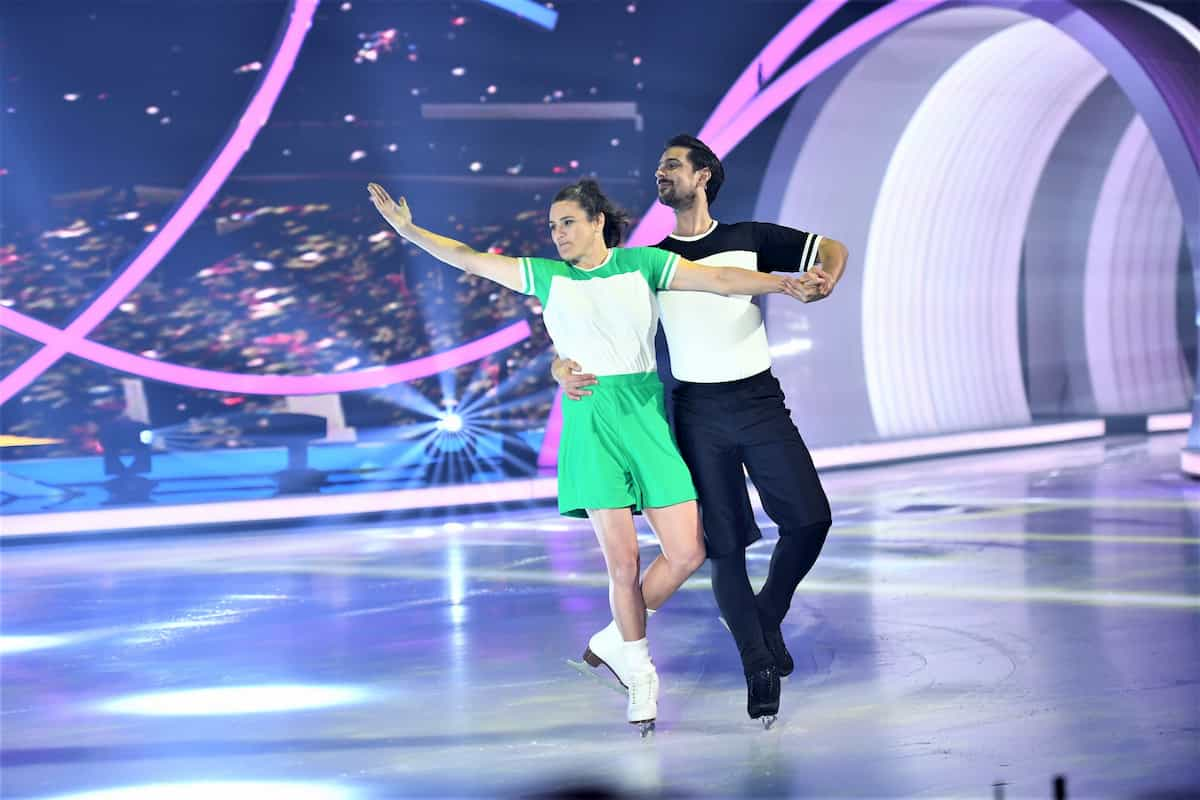 Nadine Angerer – David Vincour bei Dancing on Ice am 17.11.2019