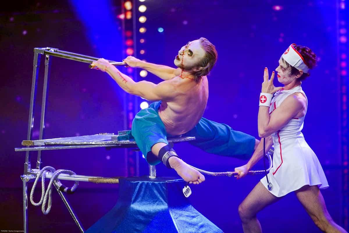 Sacha Yenivatov mit seiner Frau Aurelie Brua beim Supertalent am 30.11.2019