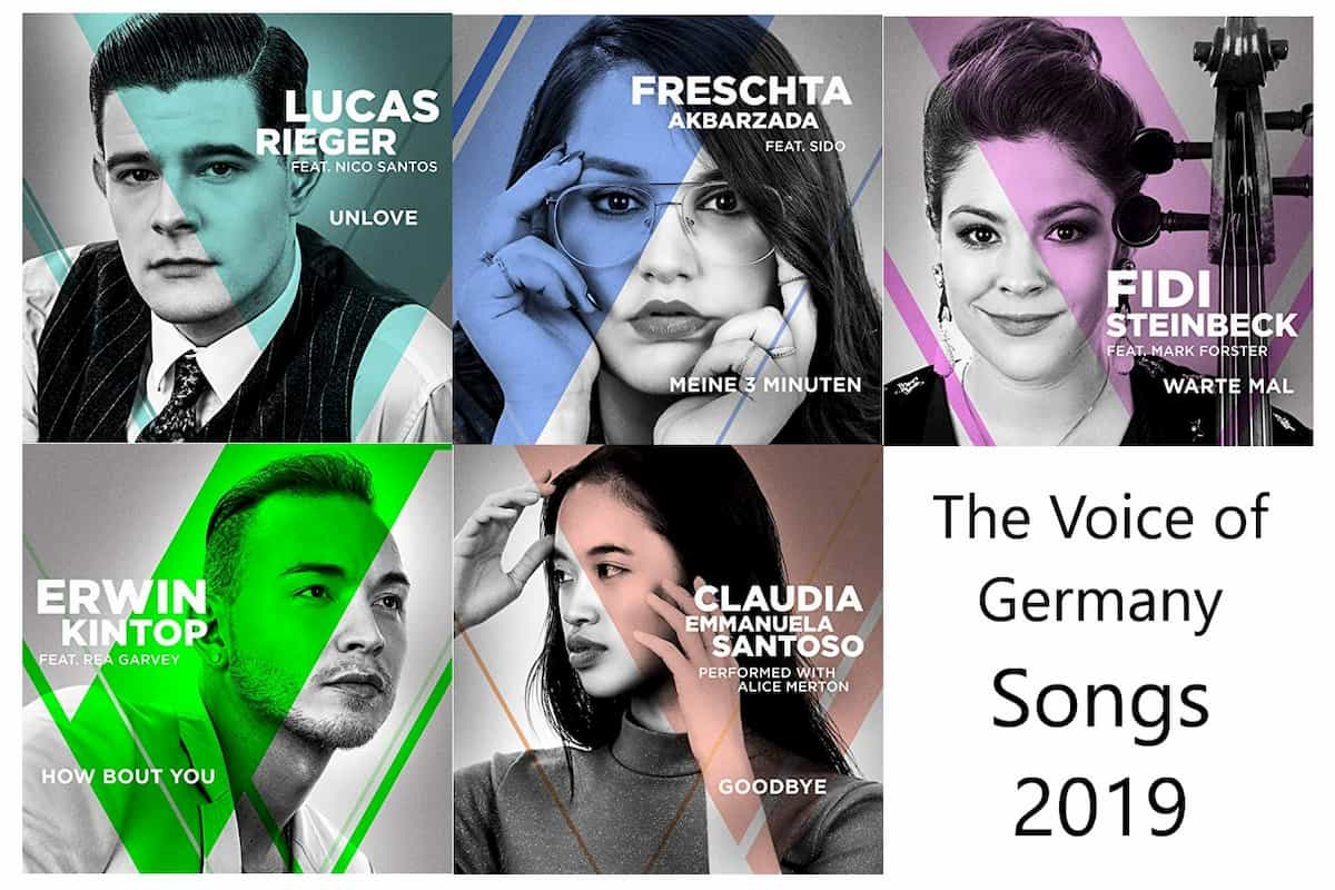 Songs The Voice of Germany 2019 Finalisten