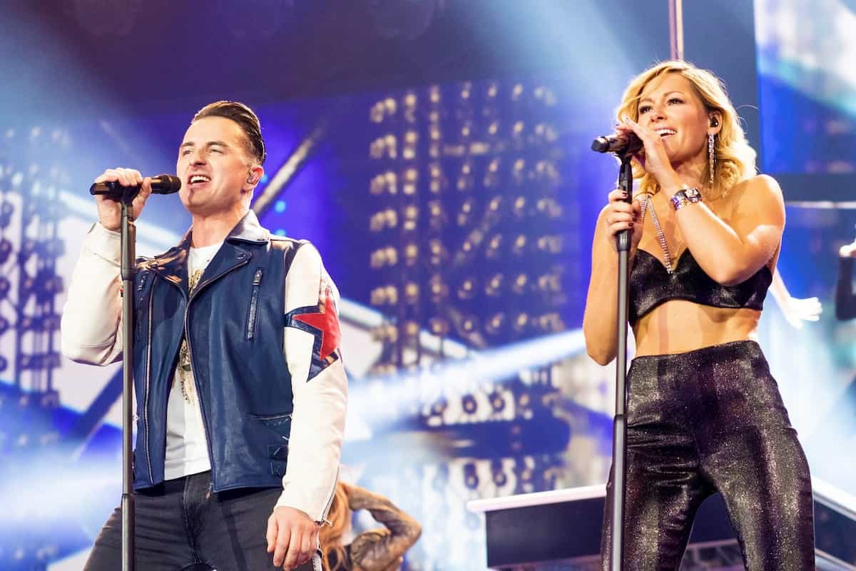 Andreas Gabalier und Helene Fischer in der Helene Fischer Show 2019 am 25.12.2019